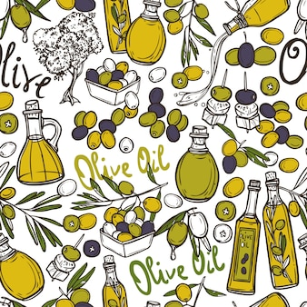 Olive naadloze patroon