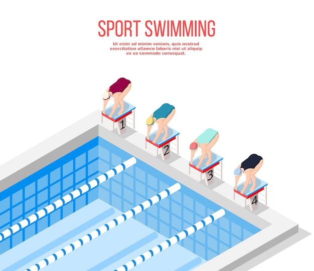 Olympisch zwembad zwemmen