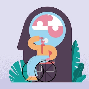 Oma in rolstoel
