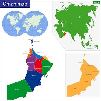 Oman kaart