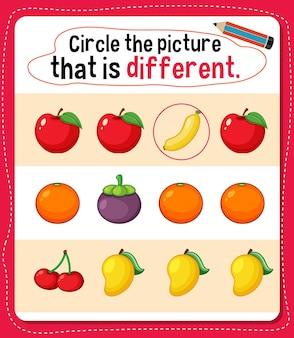 Omcirkel de afbeelding die een andere activiteit is voor kinderen