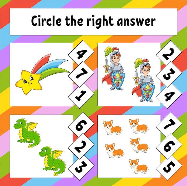 Omcirkel het juiste antwoord. onderwijs ontwikkelen werkblad.