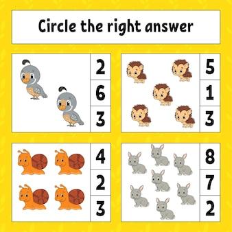Omcirkel het juiste antwoord.