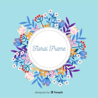 Omcirkelde floral frame achtergrond