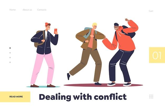 Omgaan met conflictconcept