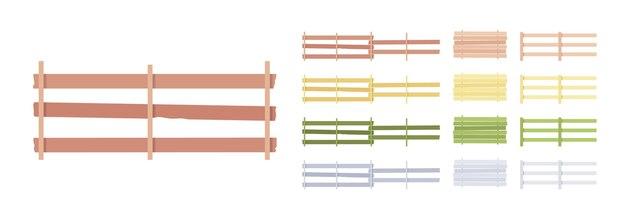 Omheining houten barrière set