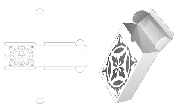Omkeerbare blikken doos met gestencild patroon gestanst sjabloon