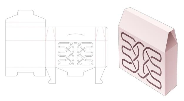 Omkeerbare blikken doos met obelisk-top met luxe lijnsjabloon gestanst sjabloon