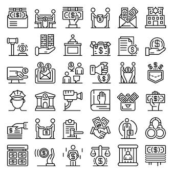 Omkoping pictogrammen instellen