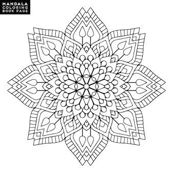Omschrijving mandala voor kleurboek. decoratief rond ornament. anti-stress therapie patroon. weef ontwerpelement. yoga logo, achtergrond voor meditatie poster. ongewone bloemvorm. oosterse vector.