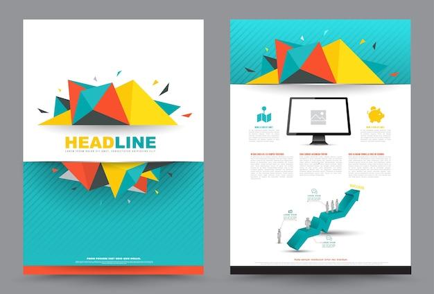 Omslag jaarverslag folder brochure flyer-sjabloon a4-formaat