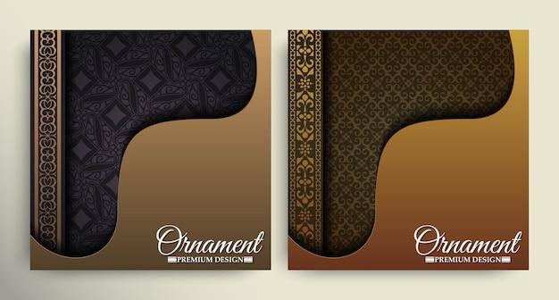 Omslag van elegant patroonmotief in goudkleur