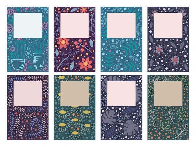Omslag voor ontwerpen met bloemmotief