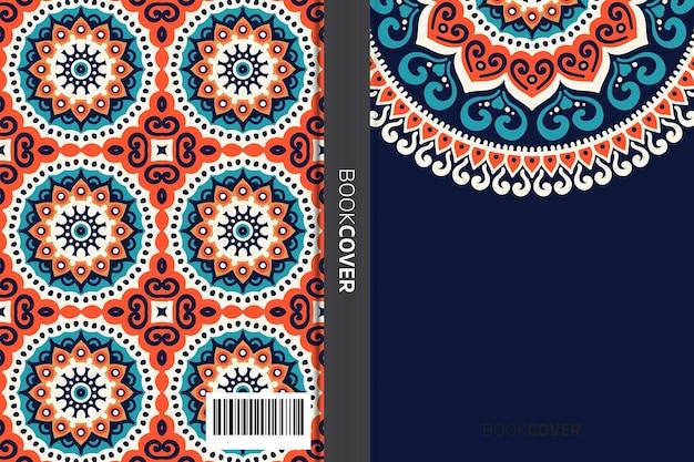 Omslagboek met mandala-elementontwerp