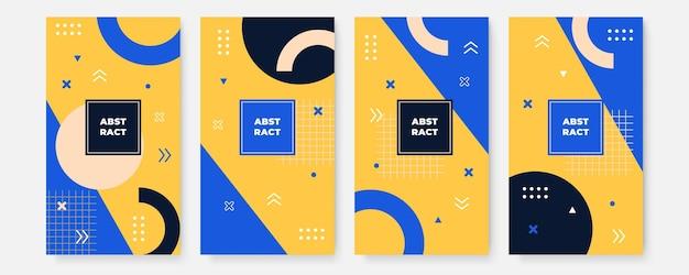 Omslagontwerp lay-outset voor het bedrijfsleven en de bouw. abstracte geometrie met gekleurde bedrijfsillustratie.