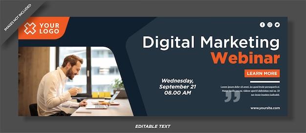 Omslagontwerp voor digitale marketing op sociale media