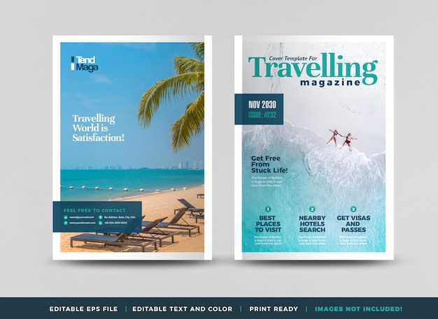 Omslagontwerp voor reismagazine