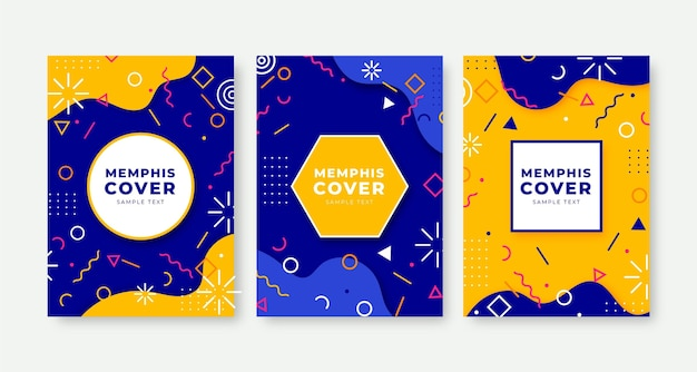 Omslagpakket met memphis-design