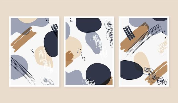 Omslagpakket voor platte abstracte kunst