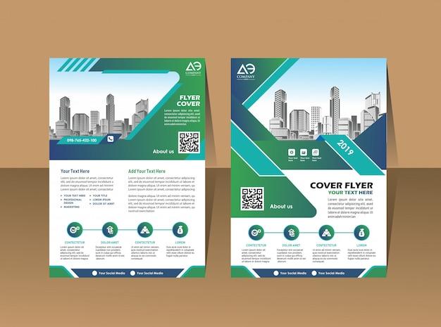 Omslagsjabloon a4 formaat brochureontwerp jaarverslag
