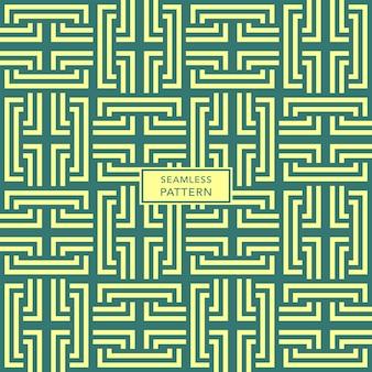 Omslagsjabloonontwerp met groen en geel geometrisch patroon.