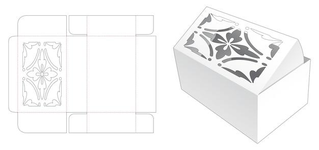Omslagverpakking met luxe sjabloon bovenop gestanst sjabloon