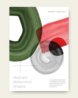Omvat abstracte aquarelvormen