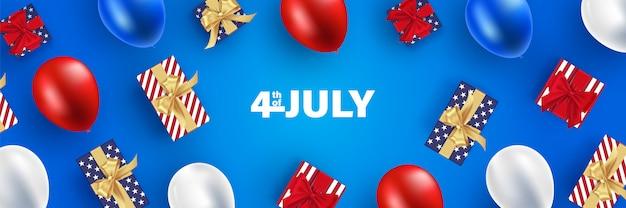 Onafhankelijkheidsdag 4 juli. happy independence day vectorillustratie