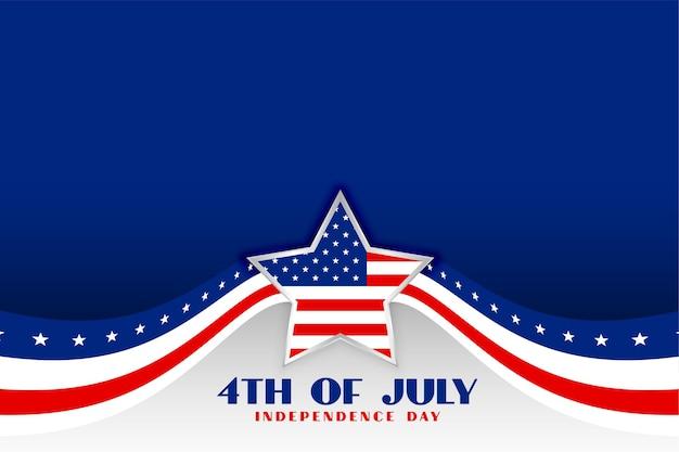 Onafhankelijkheidsdag 4 juli patriottische achtergrond