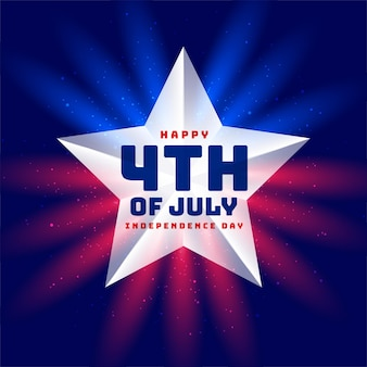 Onafhankelijkheidsdag 4 juli ster achtergrond