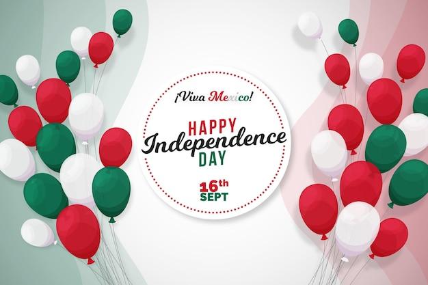 Onafhankelijkheidsdag achtergrond thema mexico