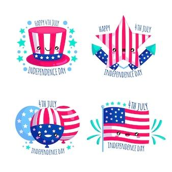 Onafhankelijkheidsdag badges pack