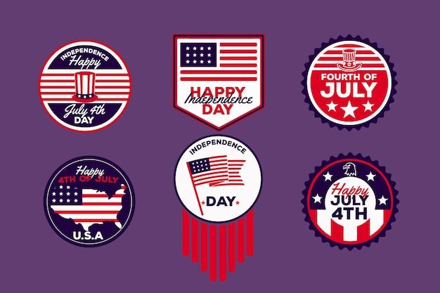 Onafhankelijkheidsdag badges thema