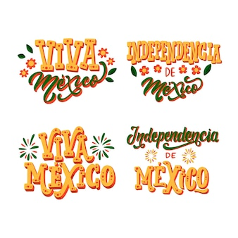 Onafhankelijkheidsdag badges van mexico