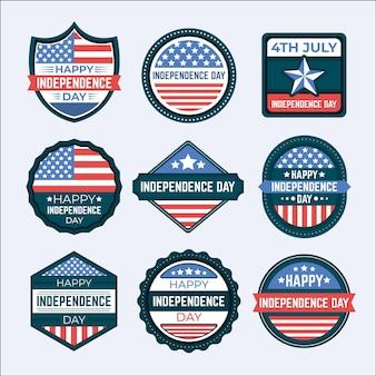 Onafhankelijkheidsdag etiketten instellen