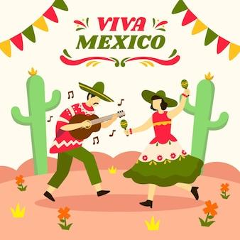 Onafhankelijkheidsdag evenement in mexico