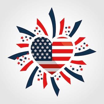Onafhankelijkheidsdag hart vlag