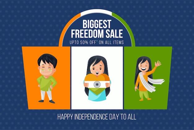 Onafhankelijkheidsdag illustratie