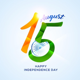 Onafhankelijkheidsdag in india viering op 15 augustus illustratie