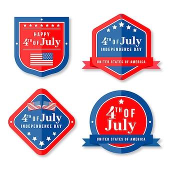 Onafhankelijkheidsdag labels ontwerpen