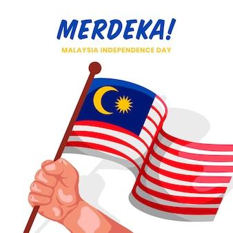 Onafhankelijkheidsdag maleisië concept