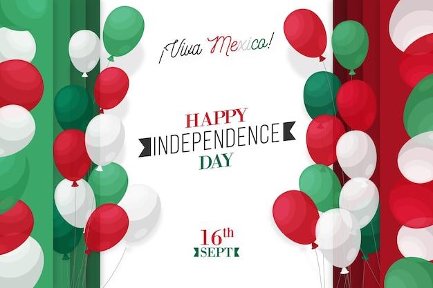Onafhankelijkheidsdag mexico achtergrondontwerp