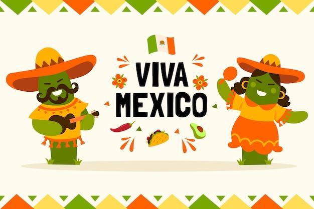 Onafhankelijkheidsdag mexico trekken