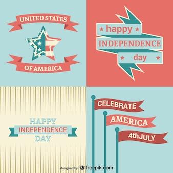 Onafhankelijkheidsdag sjablonen set