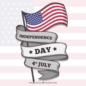 Onafhankelijkheidsdag van 4 van juli achtergrond met vlaggen