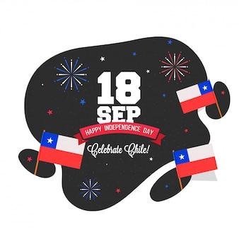 Onafhankelijkheidsdag van chili achtergrondontwerp