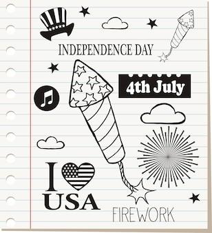 Onafhankelijkheidsdag van de vs 4 juli