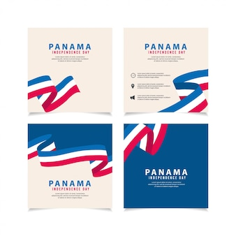 Onafhankelijkheidsdag van panama ontwerpsjabloon illustratie.