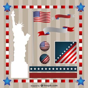 Onafhankelijkheidsdag vector graphics set