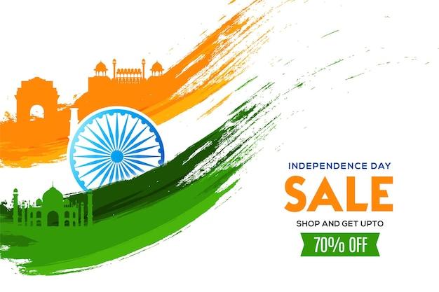 Onafhankelijkheidsdagverkoop in de viering van india op 15 augustus illustratie